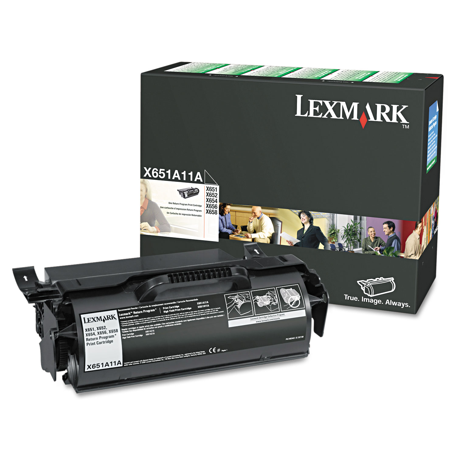 X651A11A (X65x) Return Program Toner, 7000 Page-Yield, Black