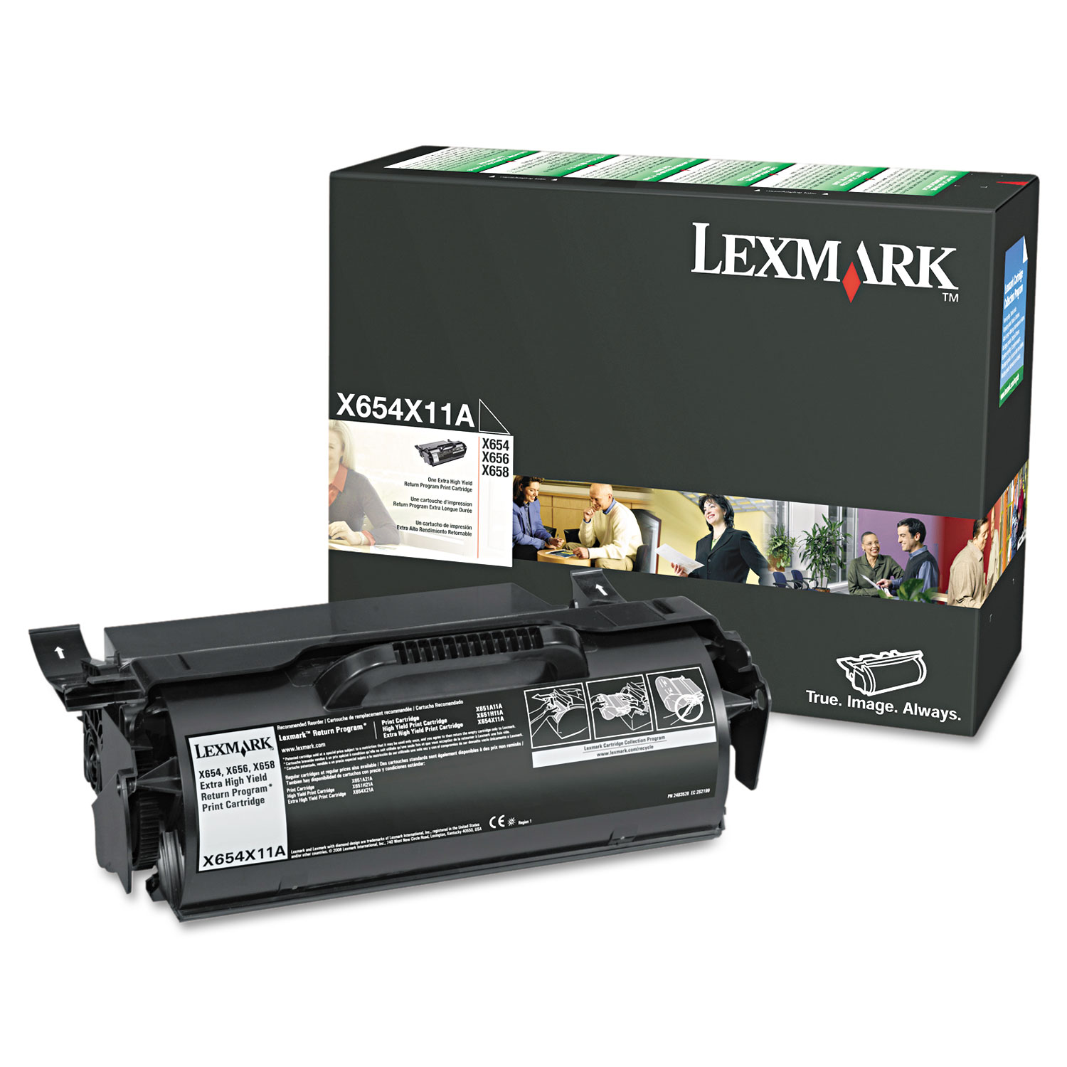 X654X11A Return Program Extra High-Yield Toner, 36000 Page-Yield, Black