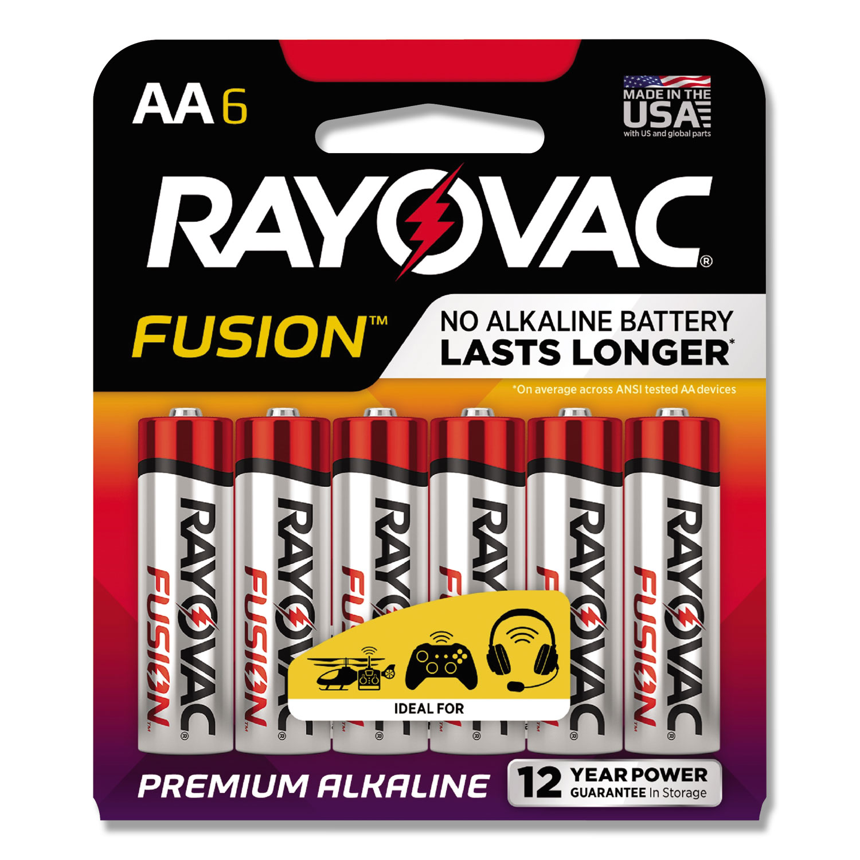 Alkaline High Energy Batteries, AA, 6/Pk