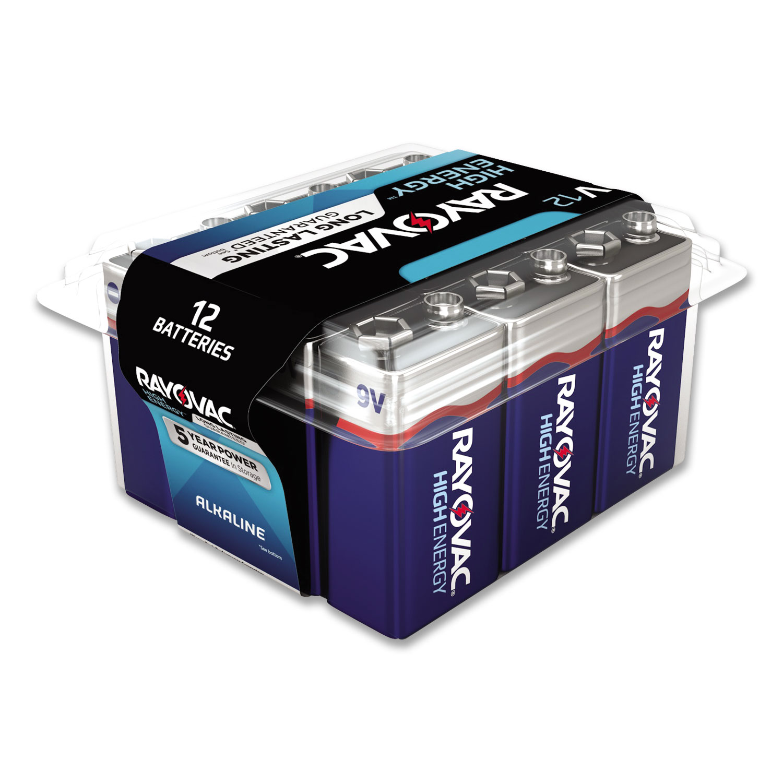 Alkaline Battery, 9V, 12/Pack