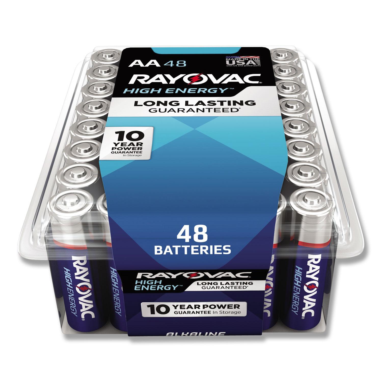 Alkaline AA Batteries, 48/Pack