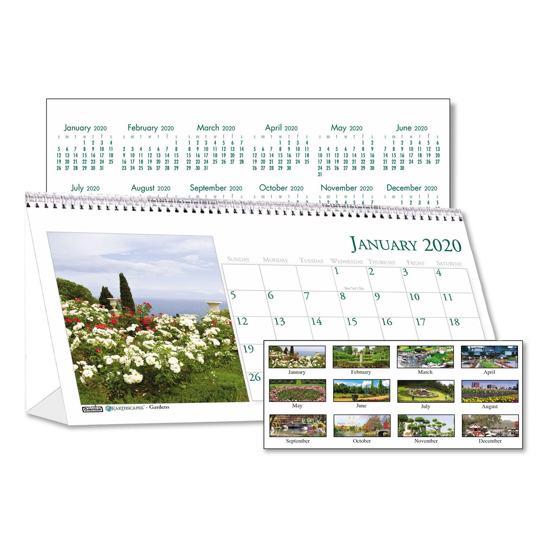 Recycled Garden Photos Desk Tent Monthly Calendar 8 1 2 X