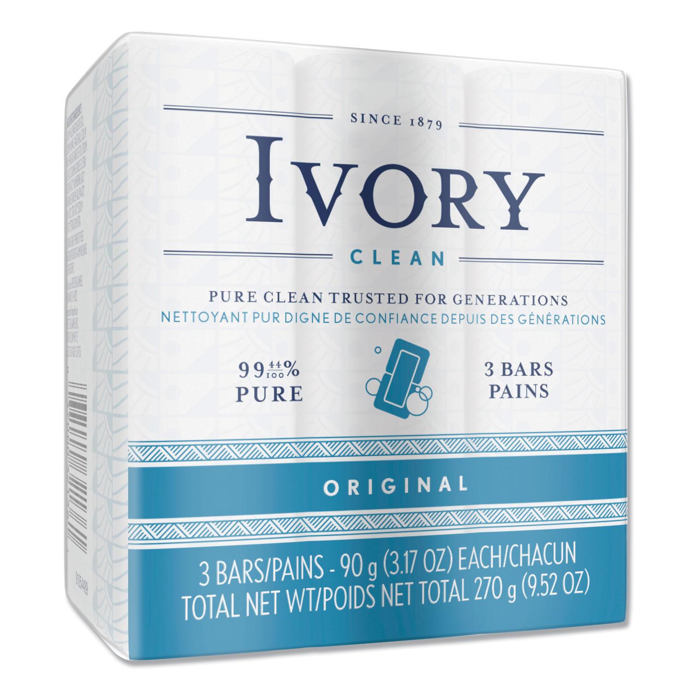 Individually Wrapped Bath Soap, White, 3.1 oz Bar, 72/Carton
