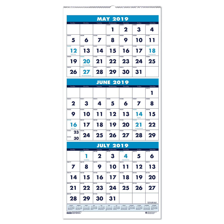 Modena Dog Calendario 2020.Three Month Academic Wall Calendar 8 X 17 14 Month June