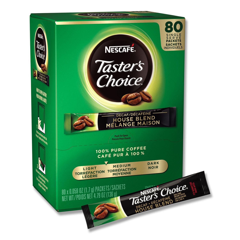 Taster's Choice Stick Pack, Decaf, 0.06oz, 80/Box, 6 Boxes/Carton