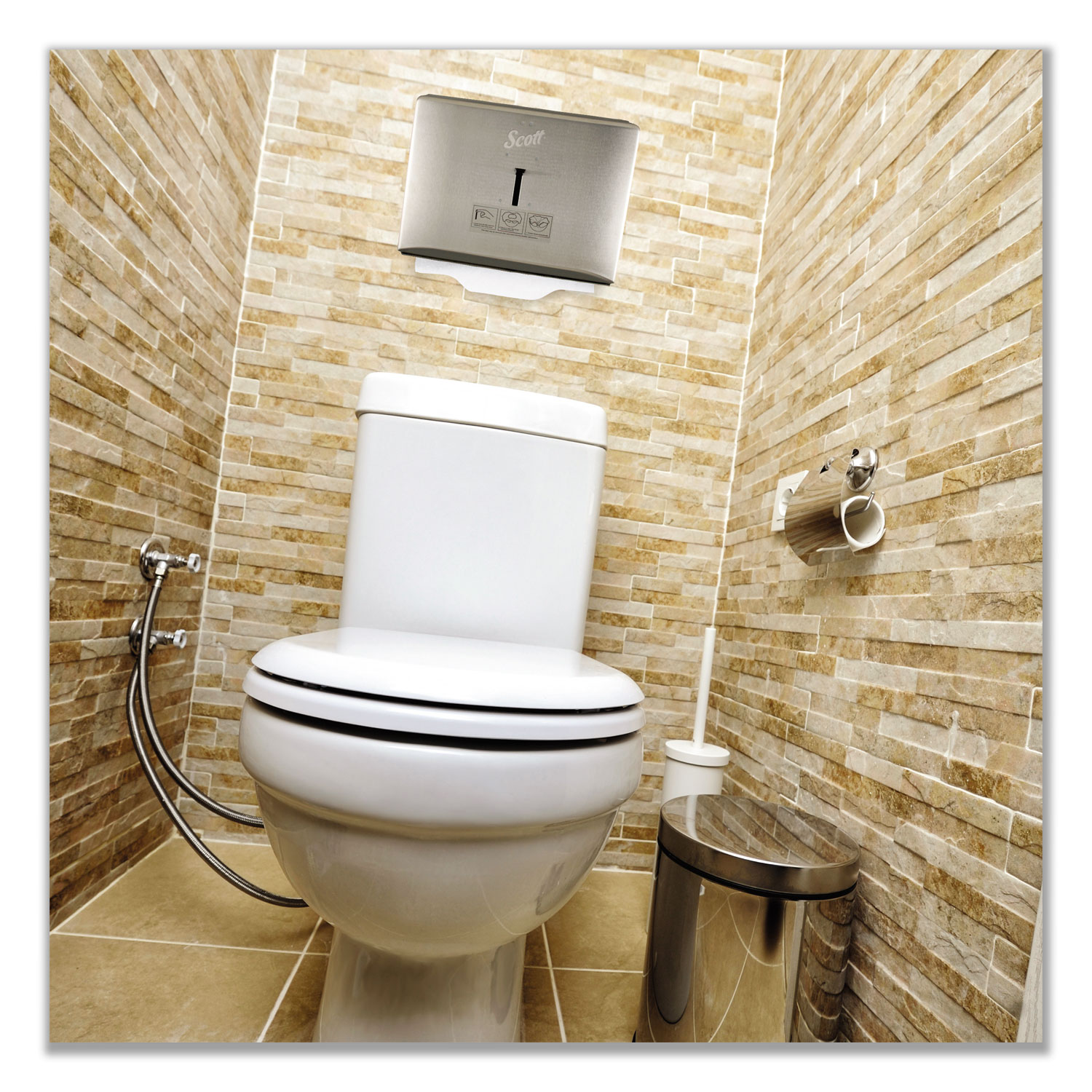 Personal Seat Toilet Seat Cover Dispenser Stainless Steel
