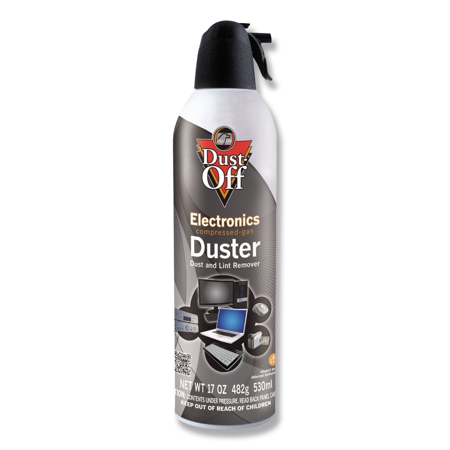 Disposable Compressed Air Duster, 17 Oz Can