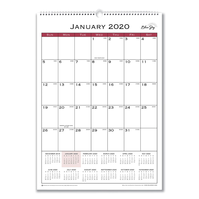 Classic Red Wall Calendar, 12 x 17, 2021
