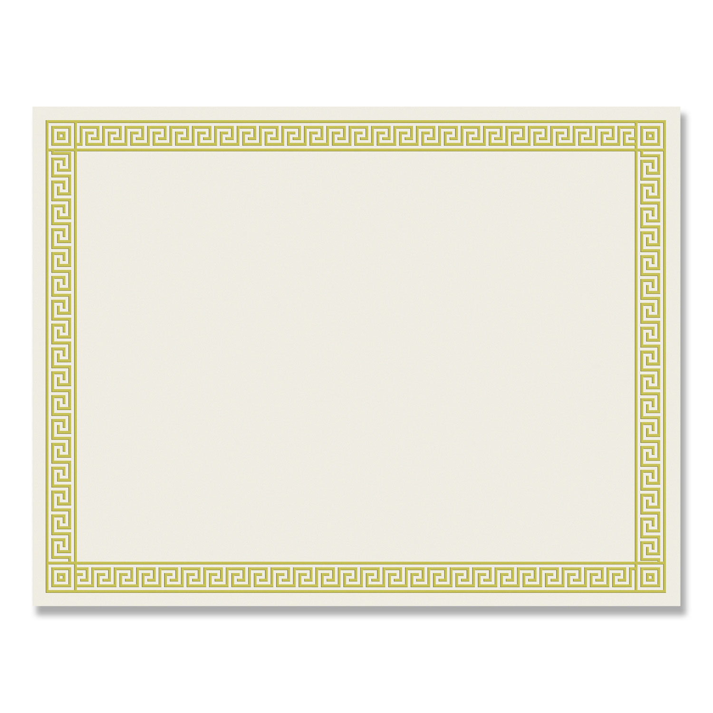 GEO22901 Parchment Paper Certificates 50//Pack Blue Royalty Border 8-1//2 x 11