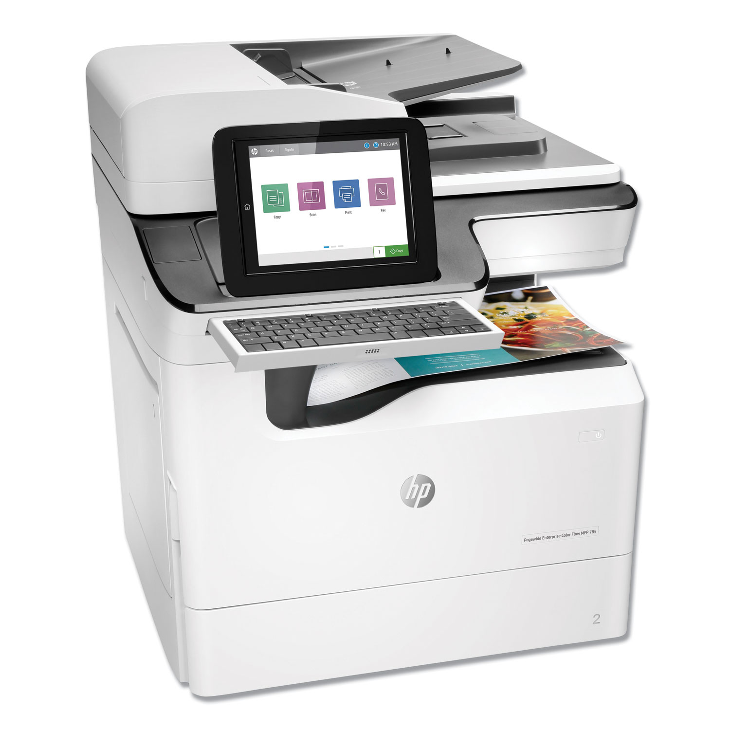 PageWide Enterprise Color Flow MFP 785f, Copy/Fax/Print/Scan