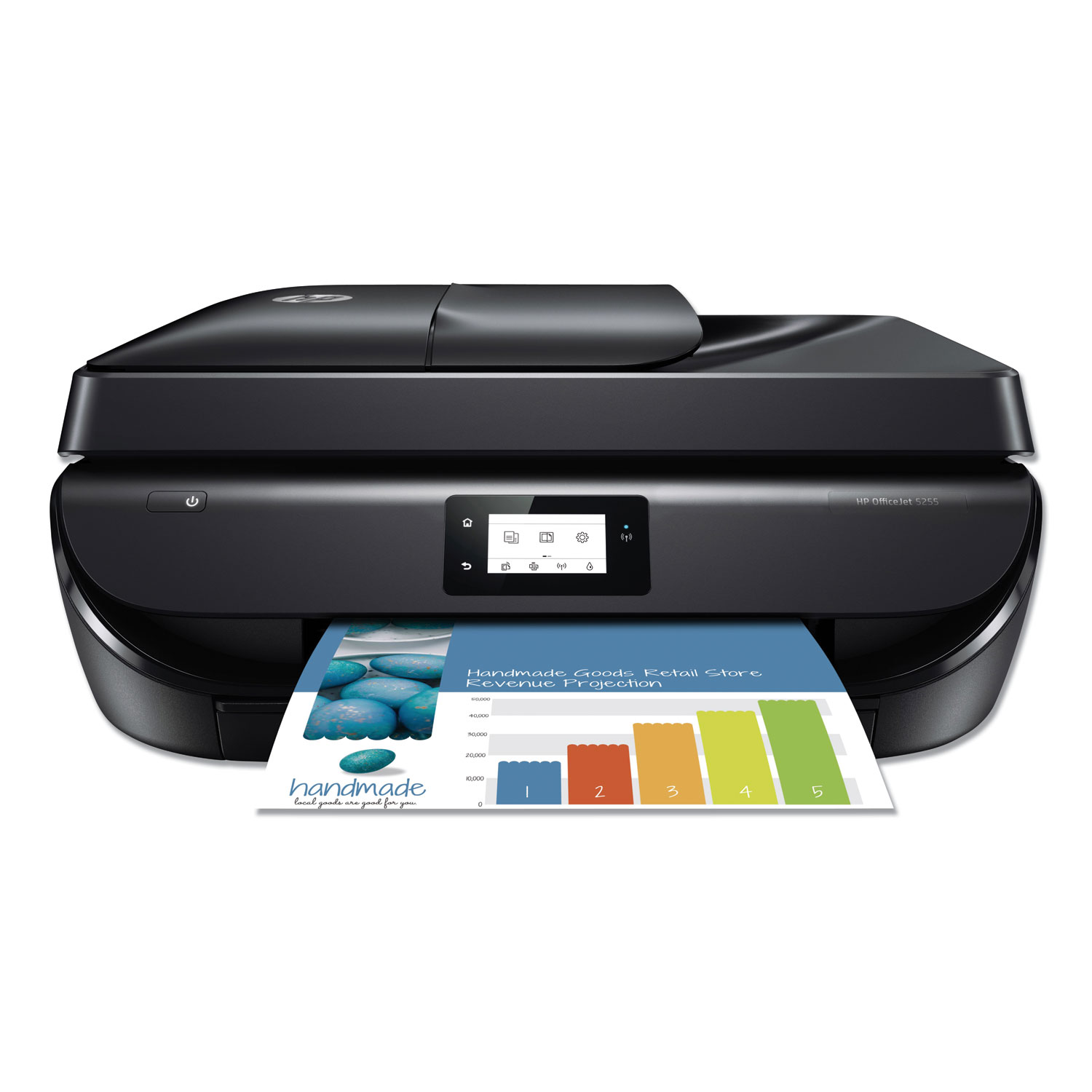 Officejet 5255 All-in-One Printer, Copy/Fax/Print/Scan