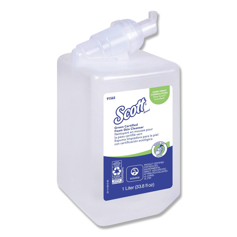 Essential Green Certified Foam Skin Cleanser, Neutral, 1000mL Bottle, 6/Carton