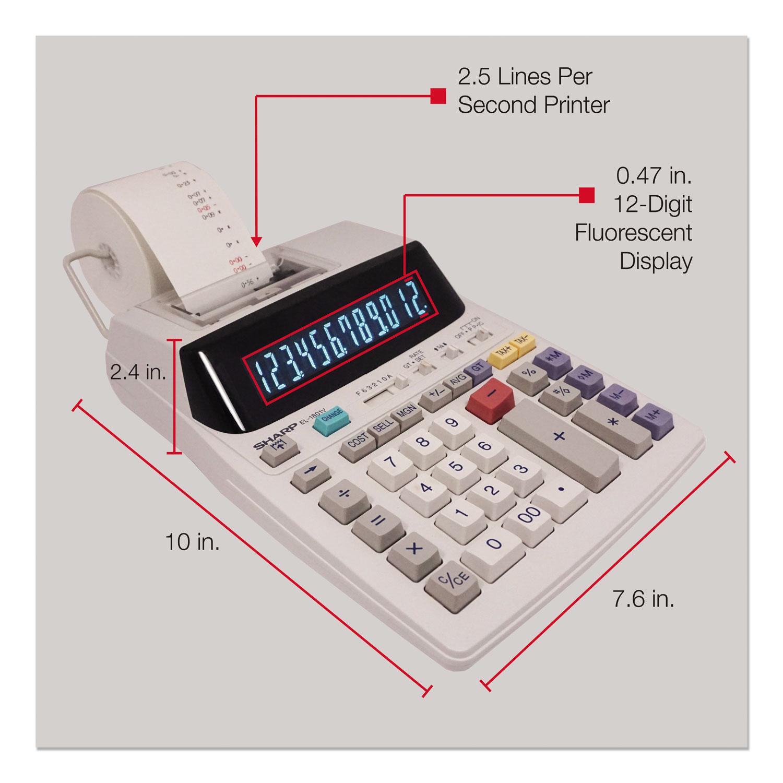 EL-1801V Two-Color Printing Calculator, Black/Red Print, 2 1 Lines/Sec