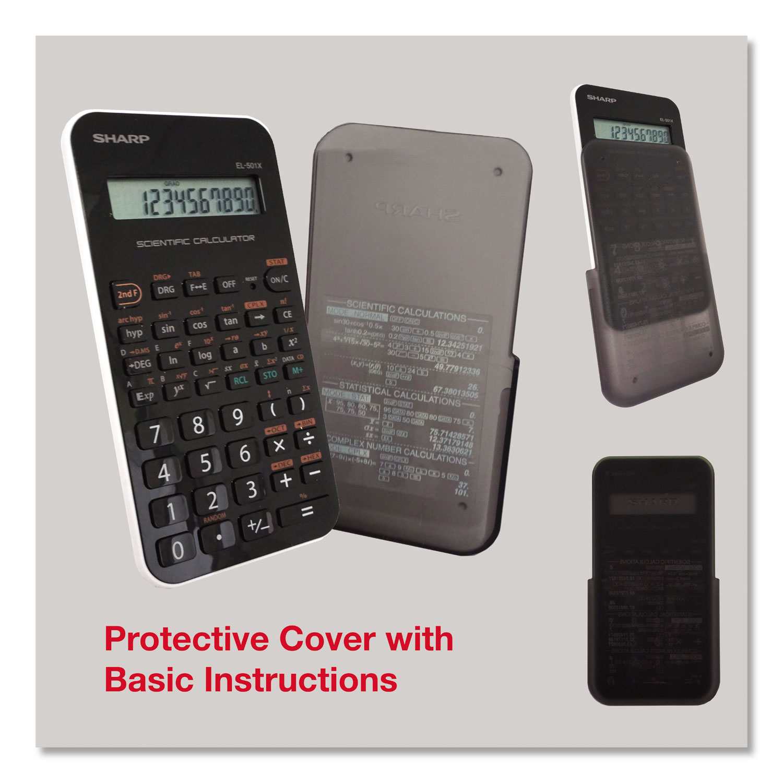 EL-501XBWH Scientific Calculator, 10-Digit LCD