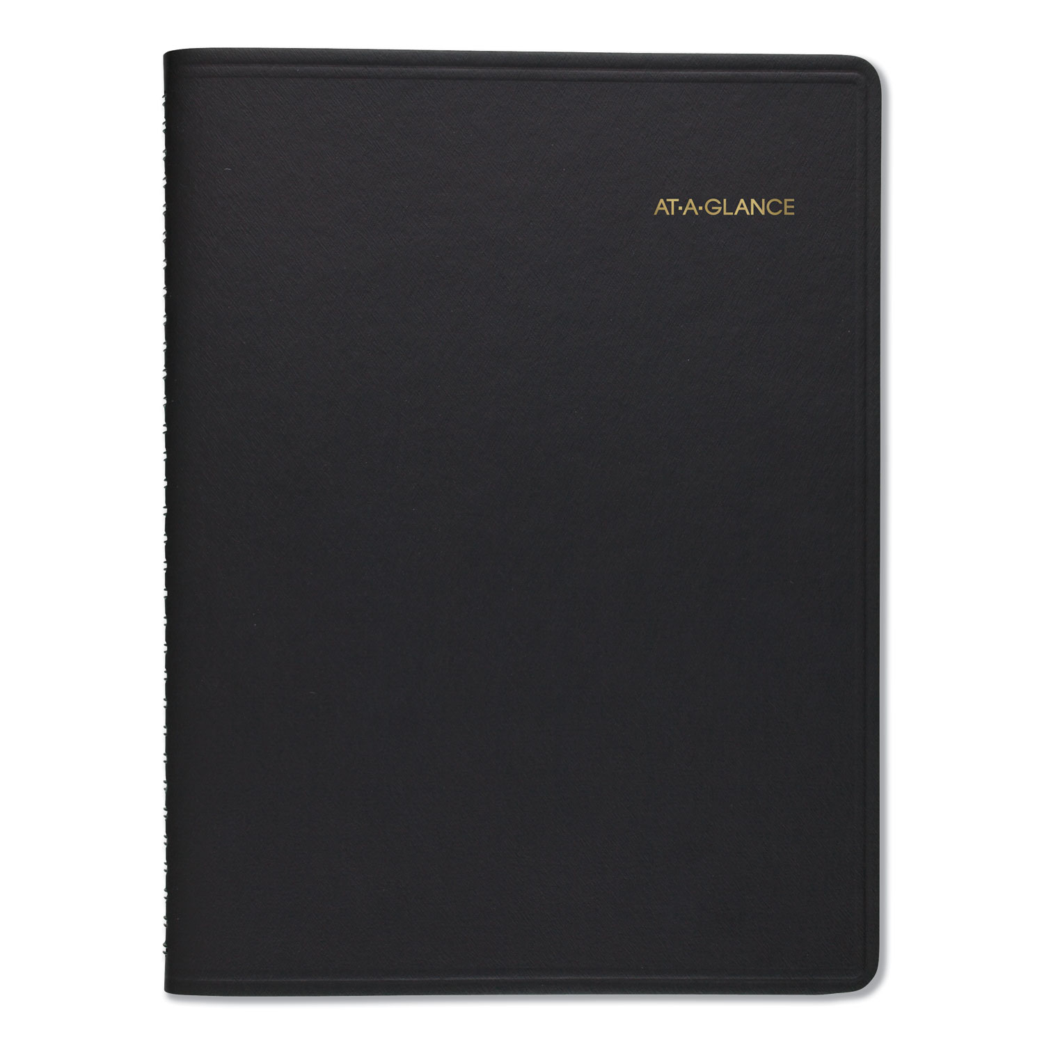 Weekly Appointment Book, 8 1/4 X 10 7/8, Black, 2020-2021