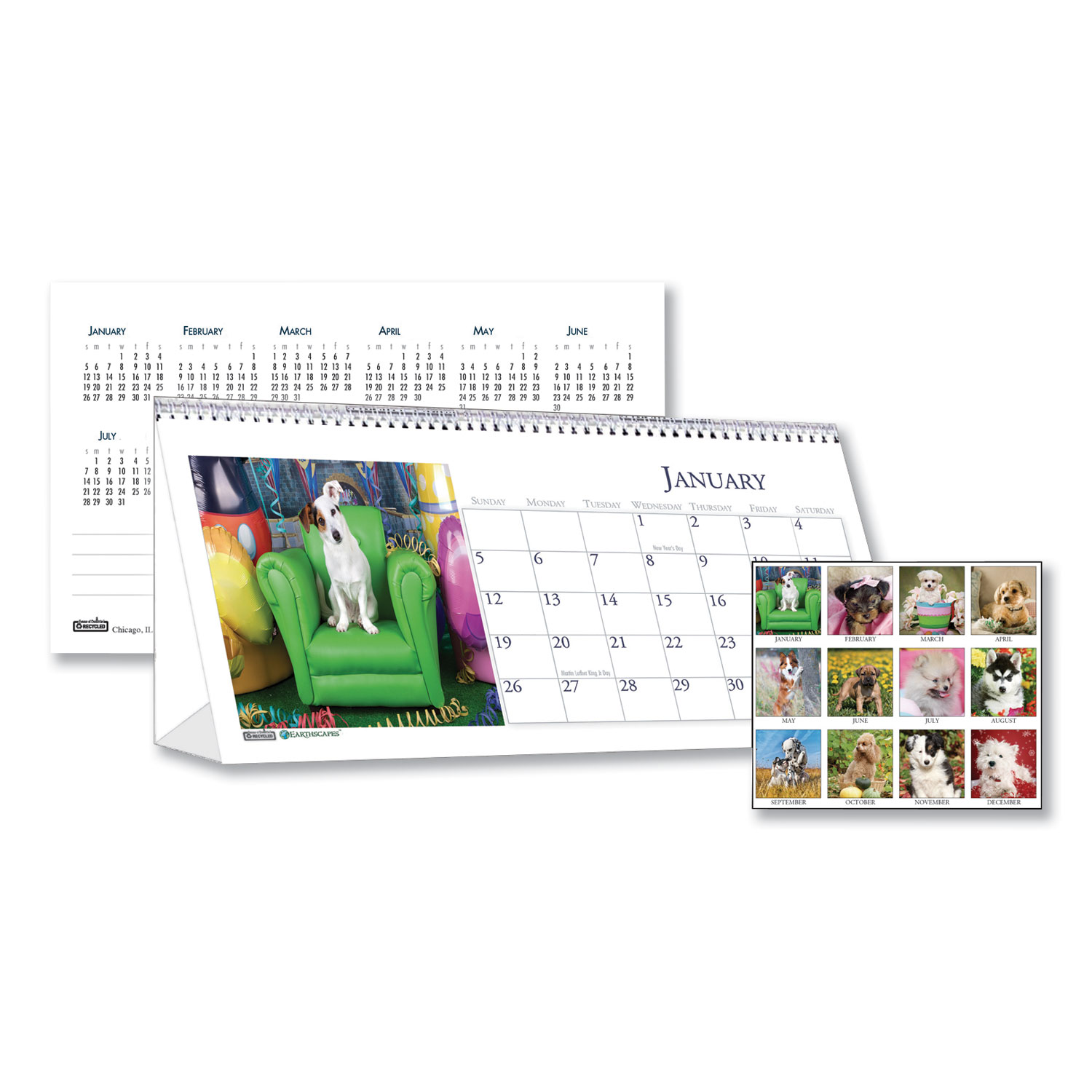 Hod3659 House Of Doolittle Recycled Puppy Photos Desk Tent