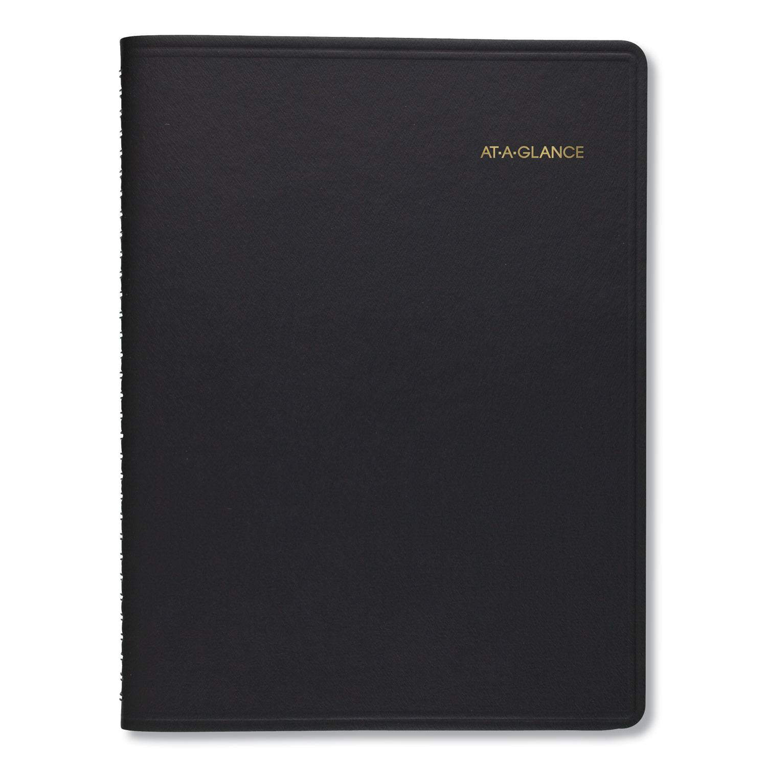 Weekly Planner Ruled For Open Scheduling, 6 3/4 X 8 3/4, Black, 2020