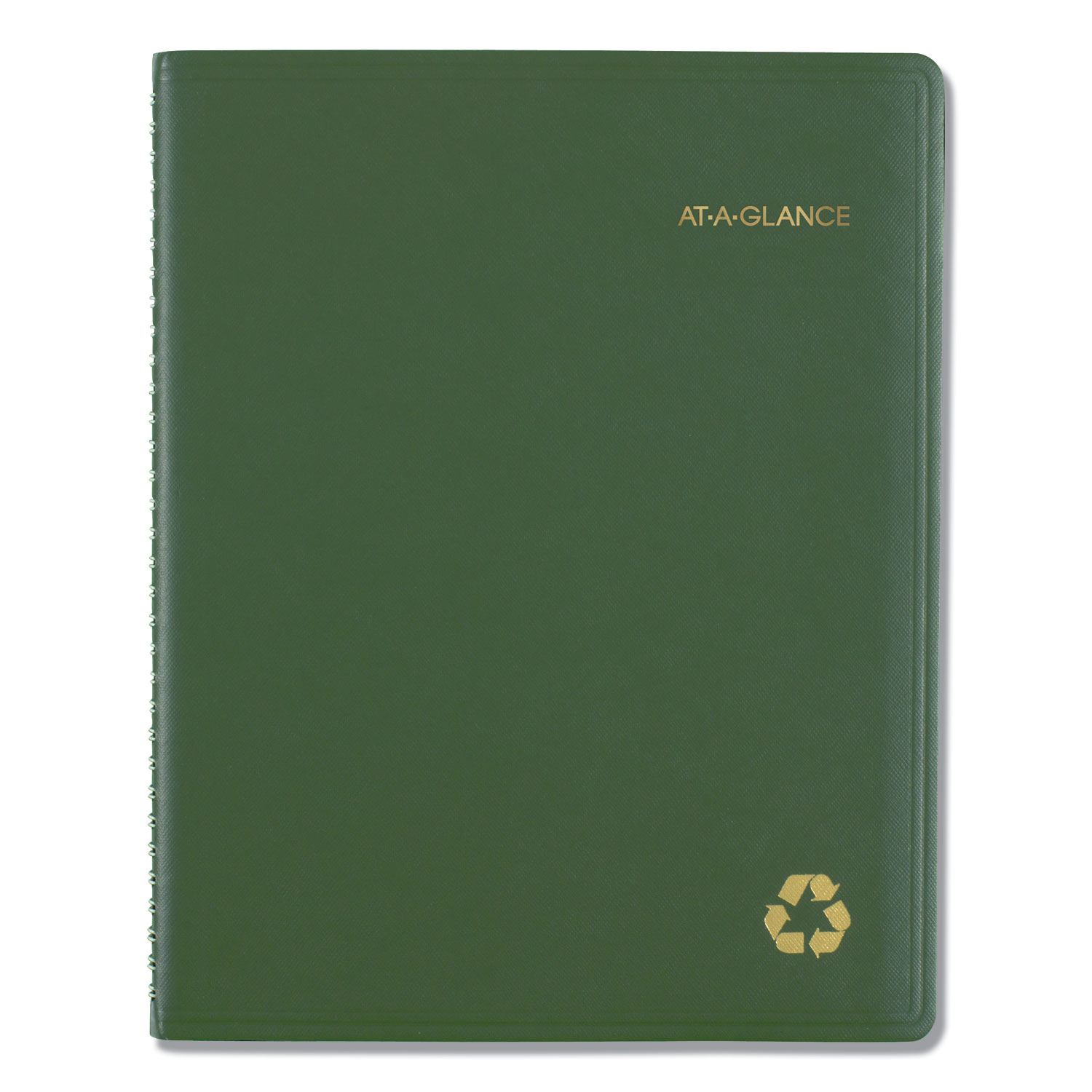 Recycled Weekly/Monthly Classic Appointment Book, 8 1/4 X 10 7/8, Green, 2020