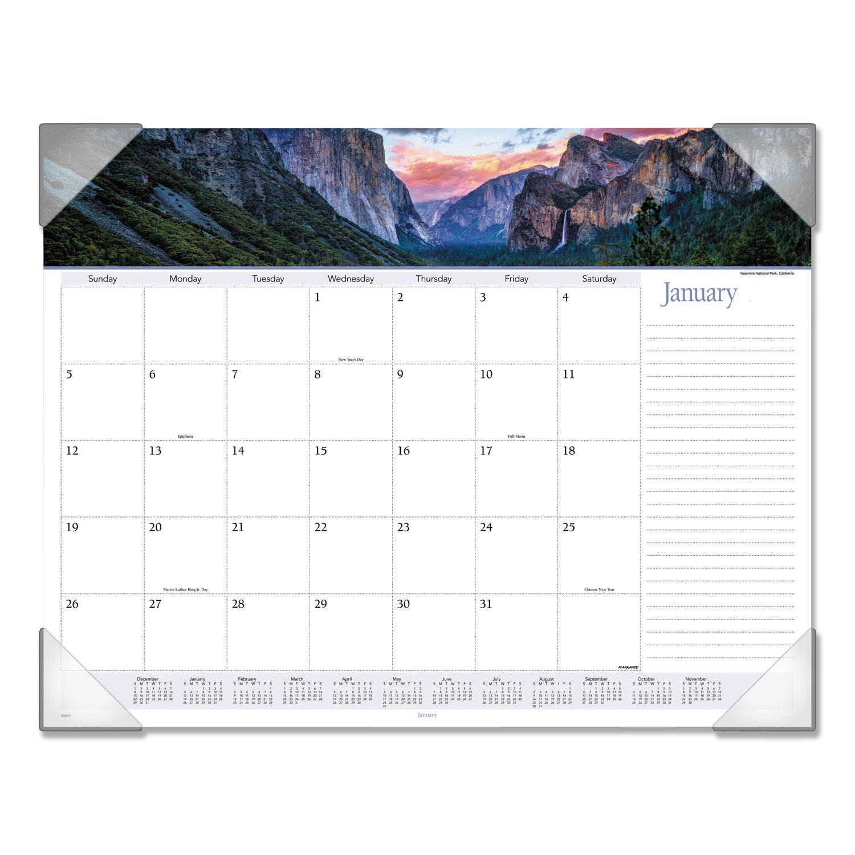 Modena Dog Calendario 2020.Landscape Panoramic Desk Pad 22 X 17 Landscapes 2020