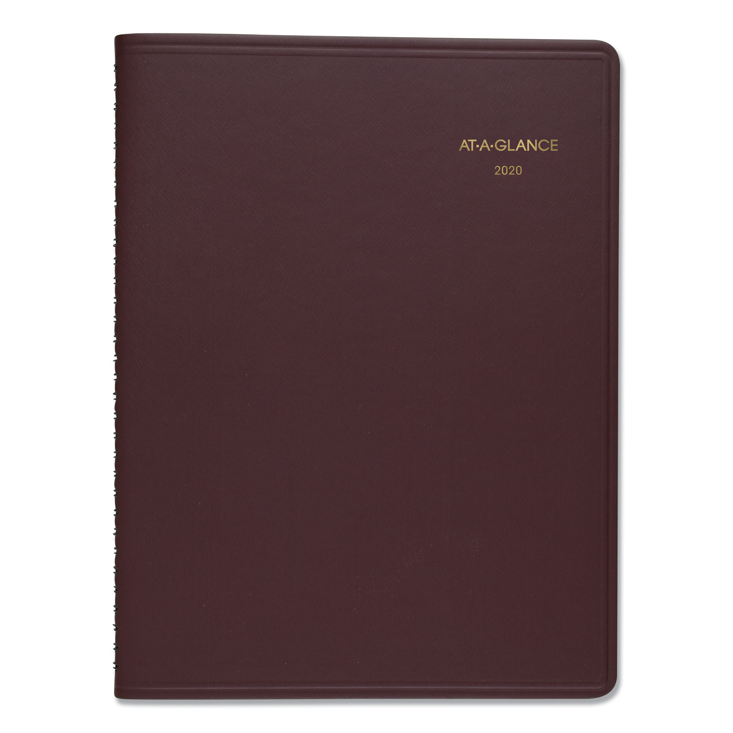 Weekly Appointment Book, 8 1/4 X 10 7/8, Winestone, 2020-2021