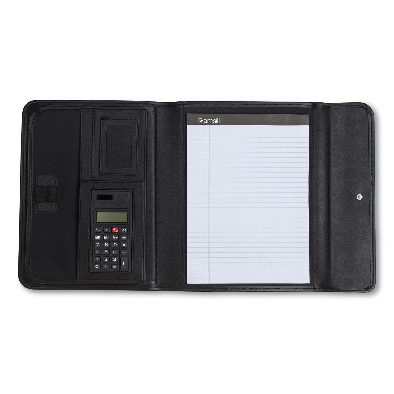 Professional Tri Fold Padfolio W Calculator Writing Pad