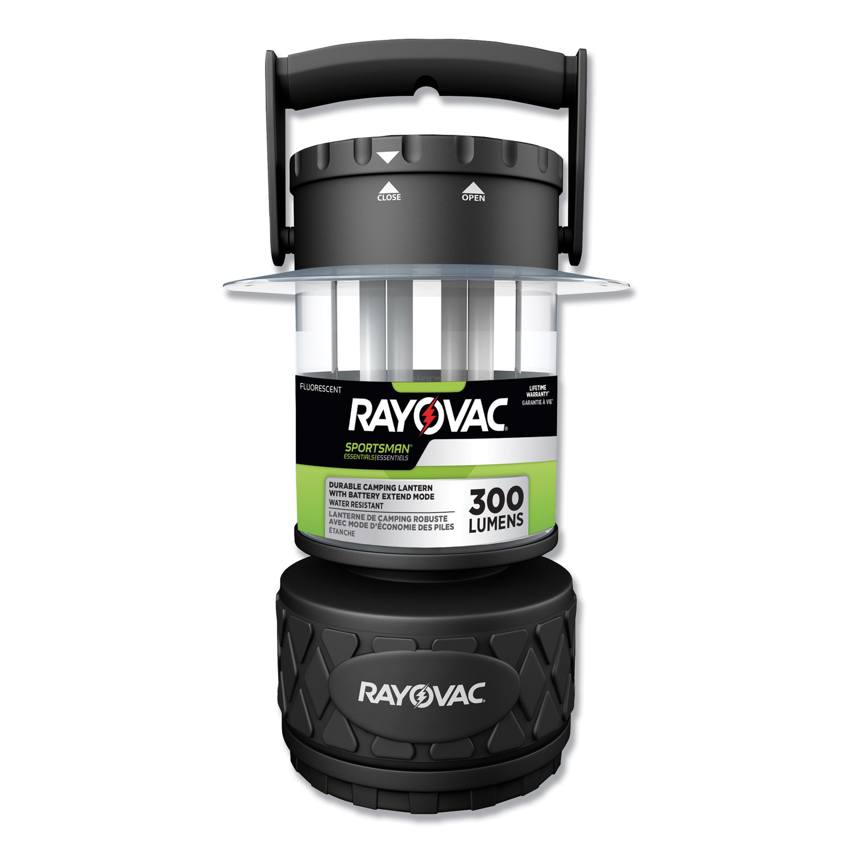 Sportsman Fluorescent Lantern, 8 D Batteries (Sold Separately), Black