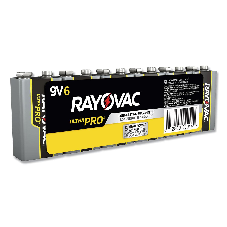 Ultra Pro Alkaline Batteries, 9V, 6/Pack