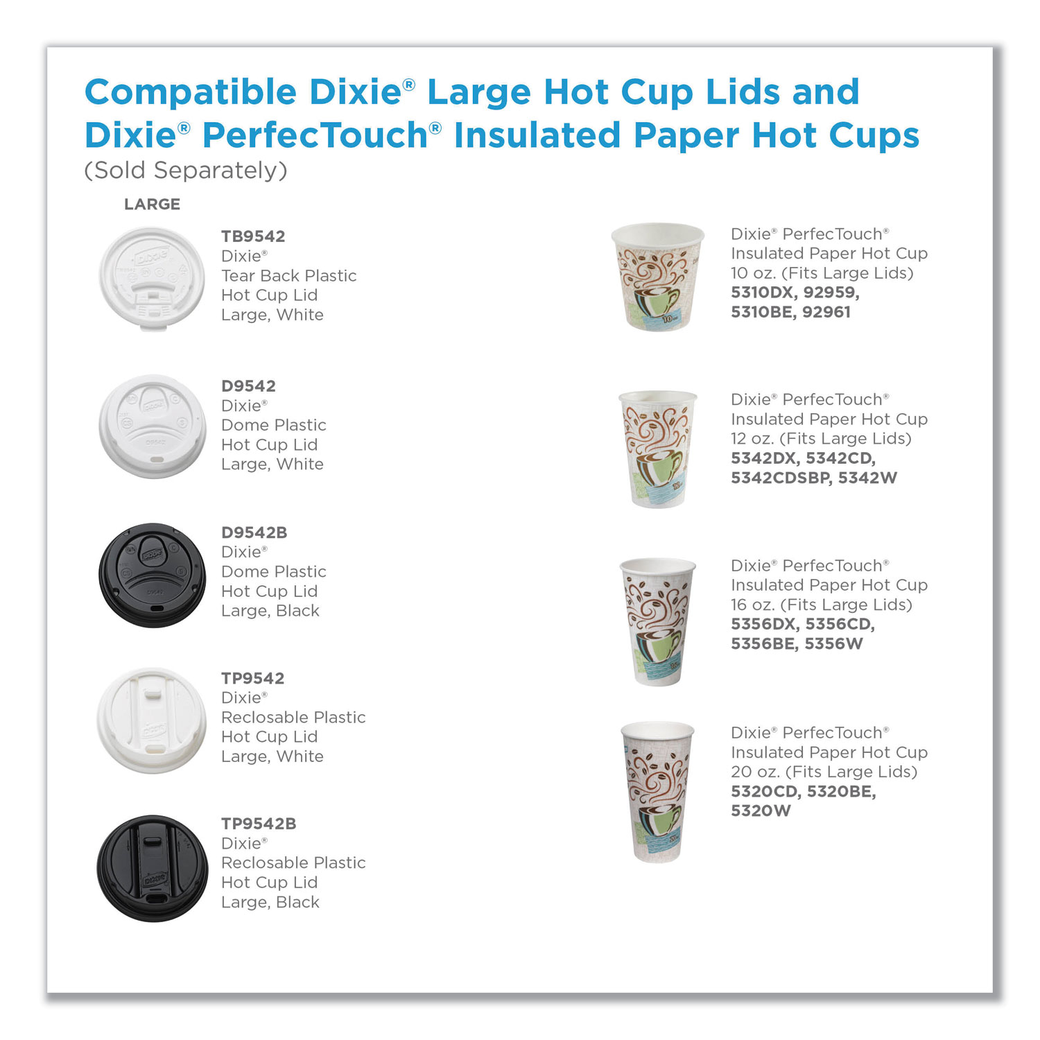 Reclosable Lids for 12 and 16 oz Hot Cups, White, 100 Lids/Pack, 10  Packs/Carton