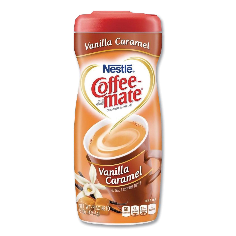 Vanilla Carmel Powdered Creamer, 15 oz Canister, 6/Carton