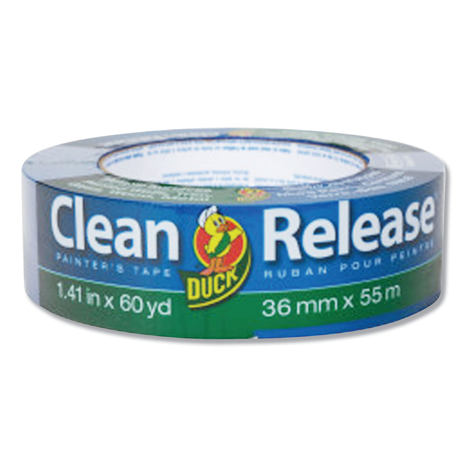 """Clean Release Painter's Tape, 3"""" Core, 1.41"""" x 60 yds, Blue, 16/Pack"""