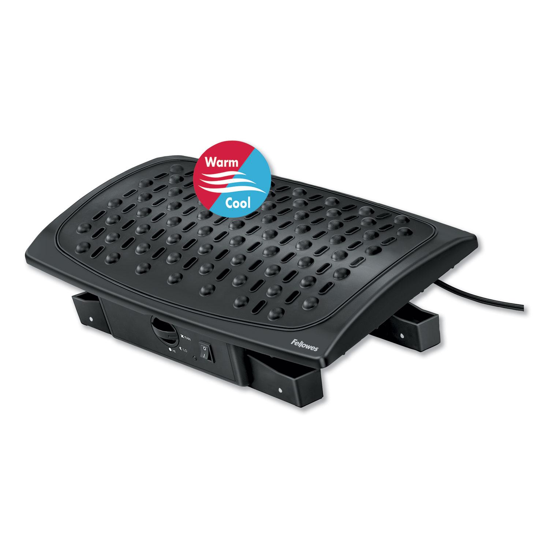 Climate Control Footrest, 16.5w x 10d x 6.5h, Black