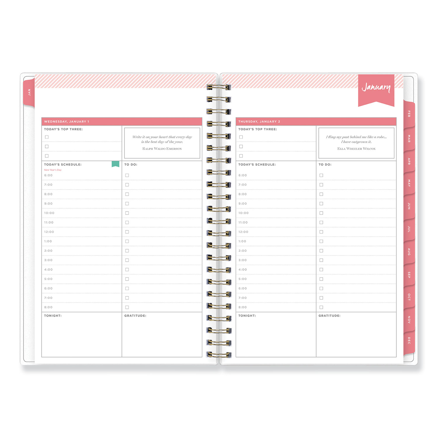 graphic about Day Designer Daily Planner identify Working day Designer Every day/Every month Planner, 8 x 5, Armed forces/White, 2020