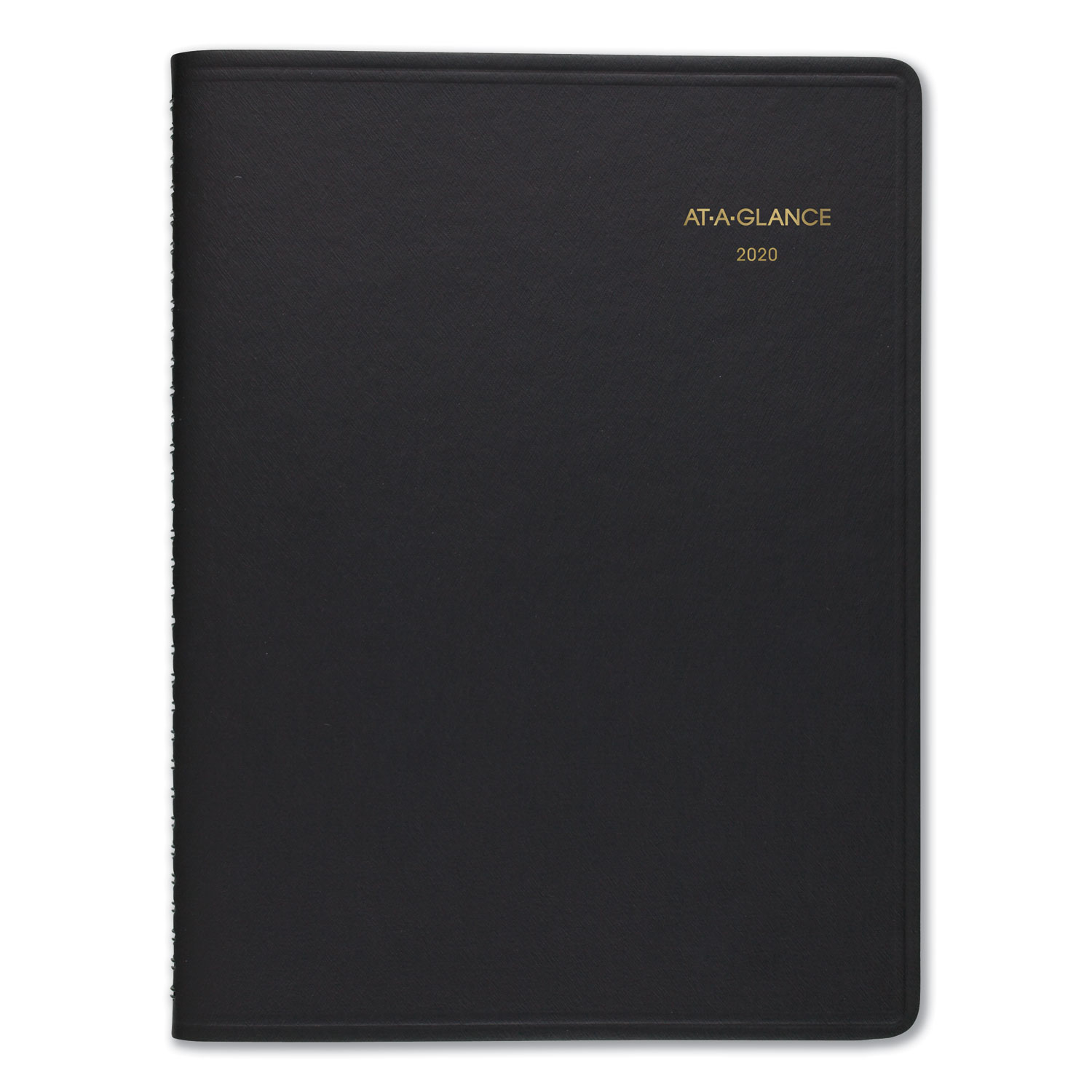 Weekly Appointment Book Ruled, Hourly Appts, 6 7/8 X 8 3/4, Black, 2020-2021