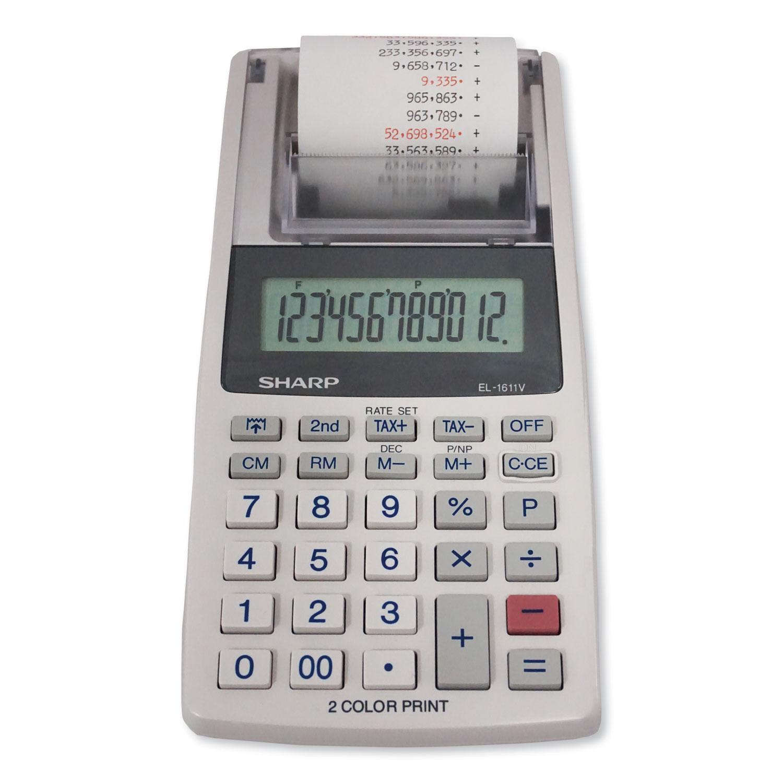 EL-1611V Printing Calculator, Black/Red Print, 2 Line/Second