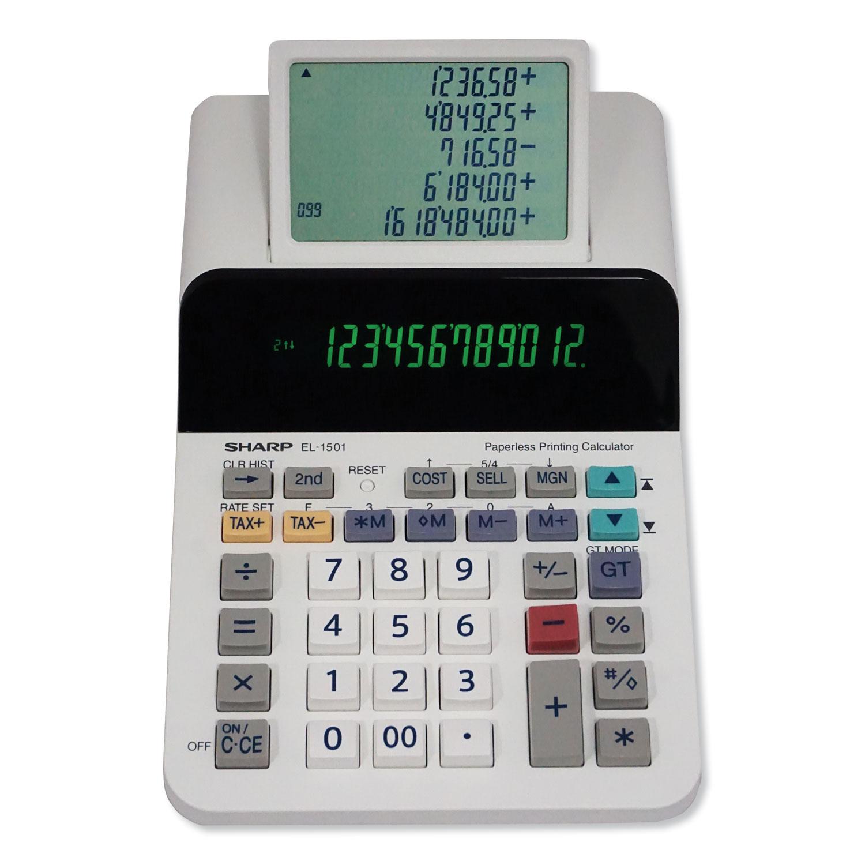 EL-1501 Paperless Printing Calculator, 12-Digit LCD