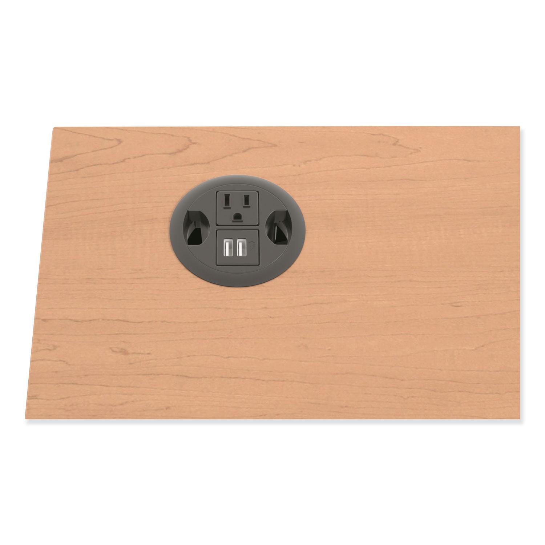 "USB AC Power Hub Grommet, 3"" Diameter, Black"