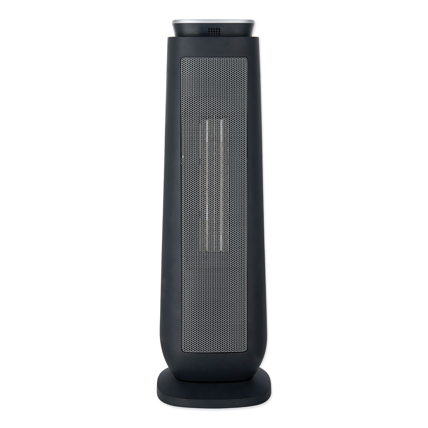 "Ceramic Heater Tower with Remote Control, 7.17"" x 7.17"" x 22.95"", Black"