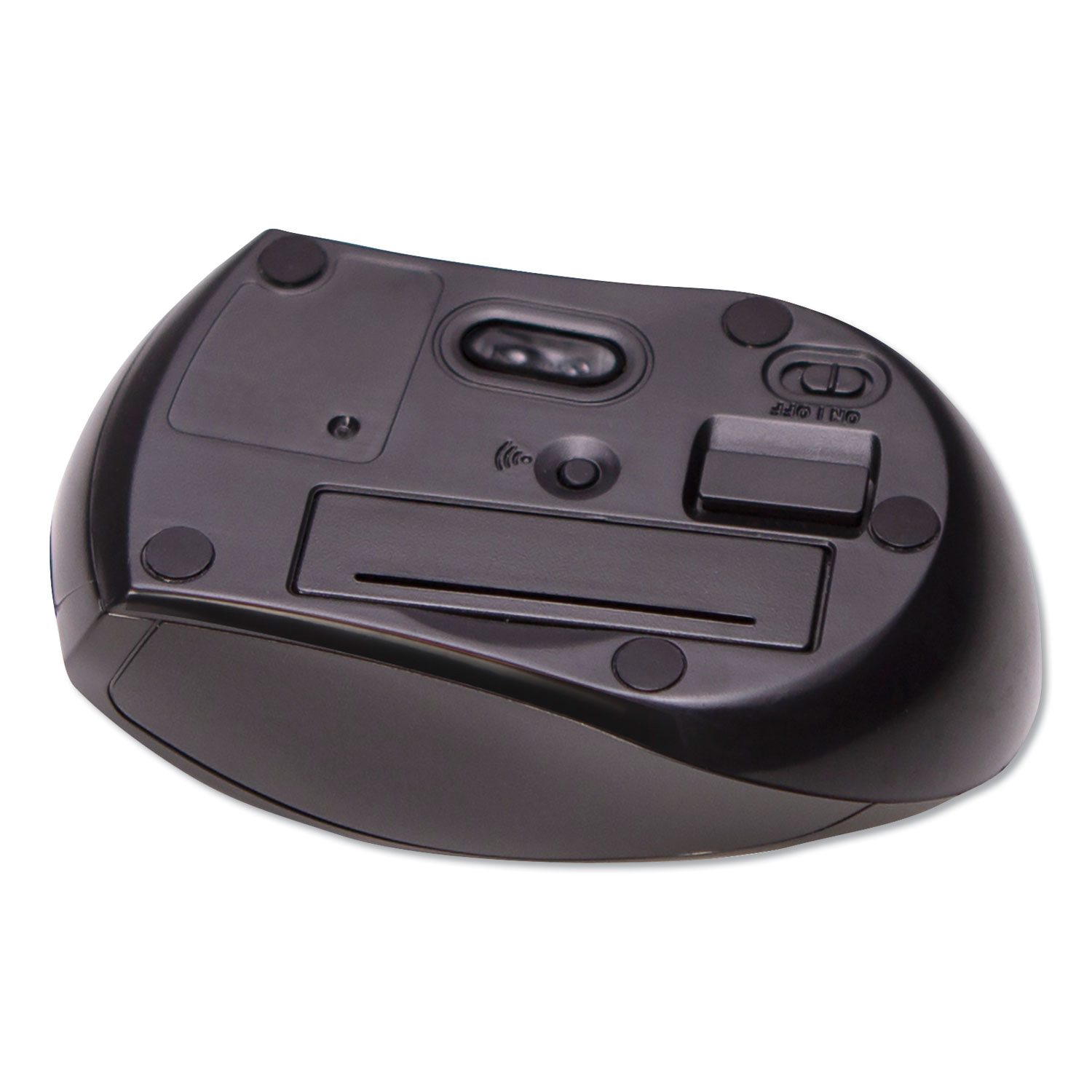Compact Travel Mouse, 2.4 GHz Frequency/26 ft Wireless Range, Left/Right Hand Use, Black