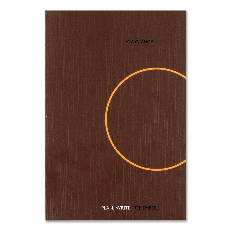 One-Day-Per-Page Planning Notebook, 6 X 9, Dark Gray/Orange, 2020