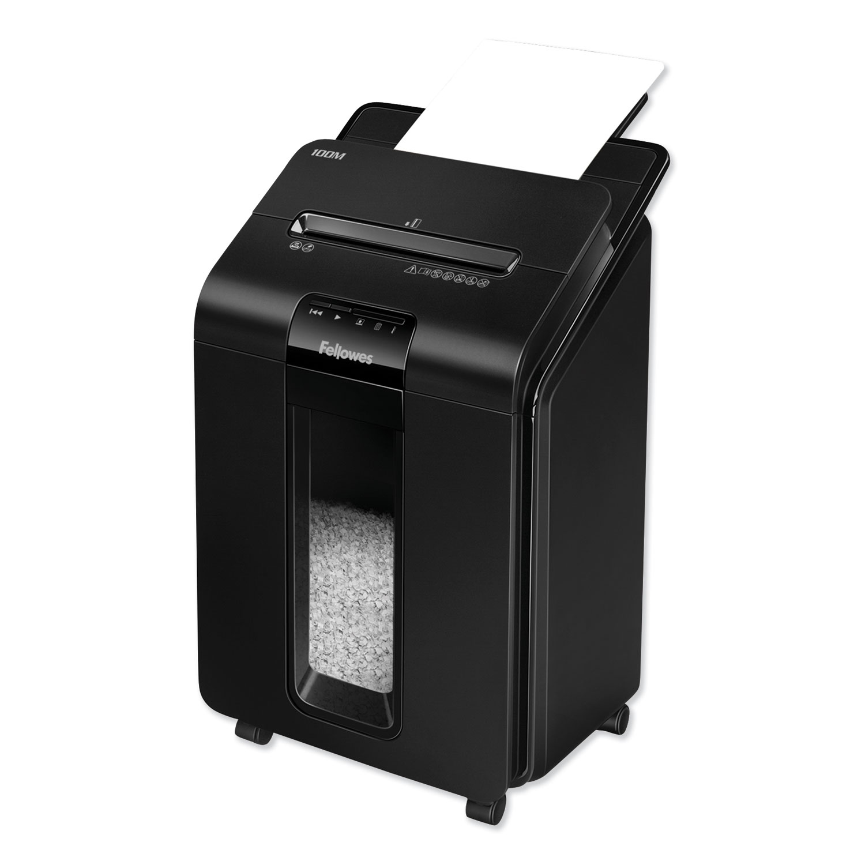AutoMax 100M Auto Feed Micro-Cut Shredder, 100 Auto/10 Manual Sheet Capacity