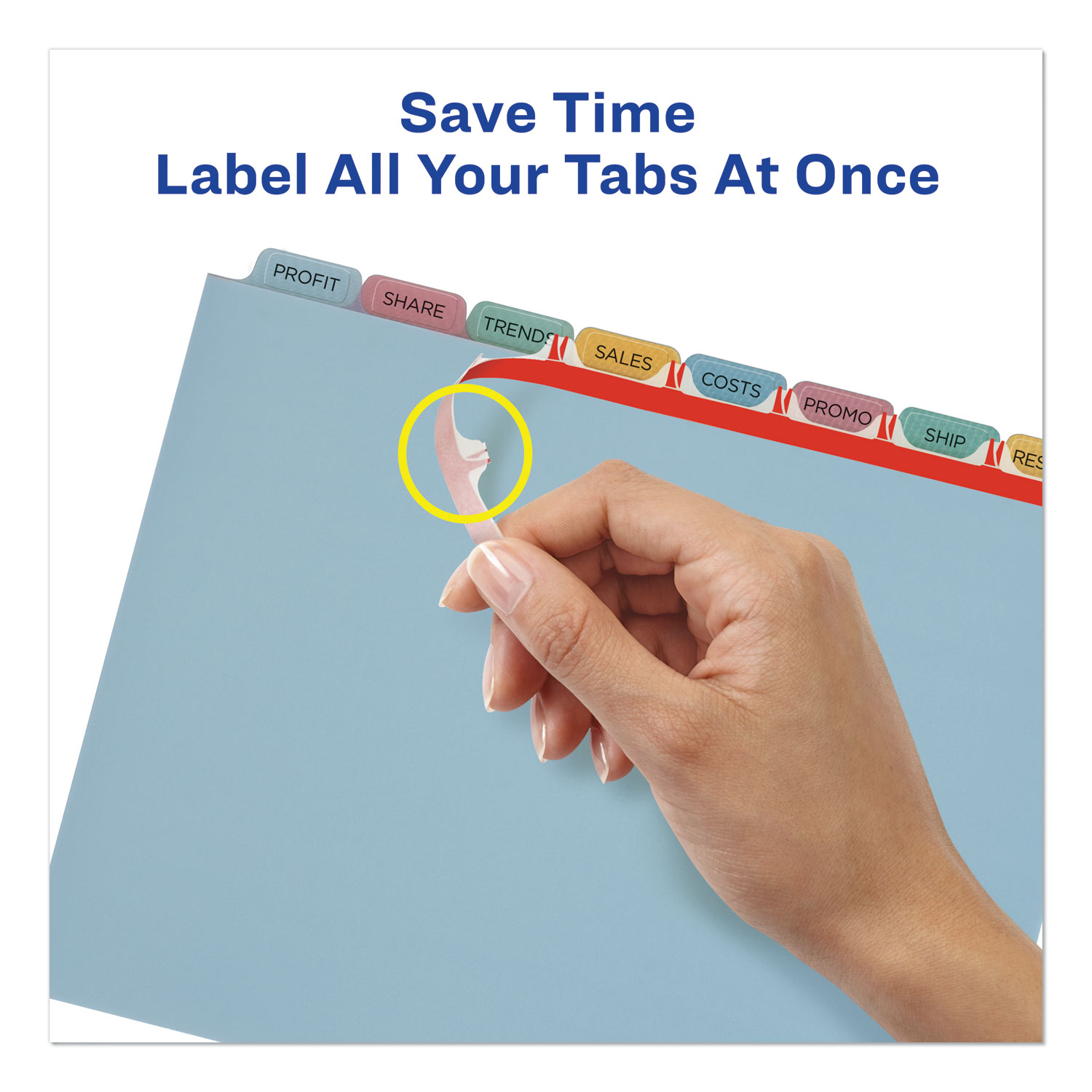 Print and Apply Index Maker Clear Label Plastic Dividers