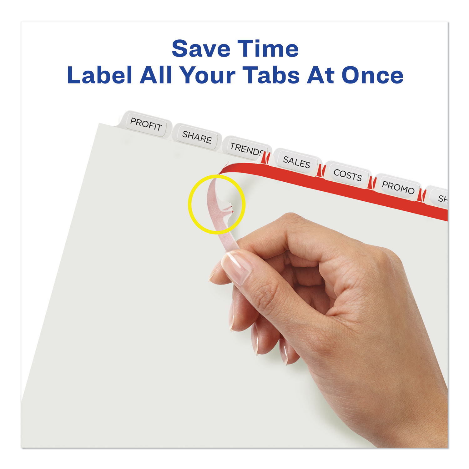 ave11447 avery print  u0026 apply clear label dividers w  white