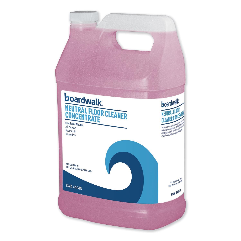 Neutral Floor Cleaner Concentrate, Lemon Scent, 1 gal Bottle, 4/Carton