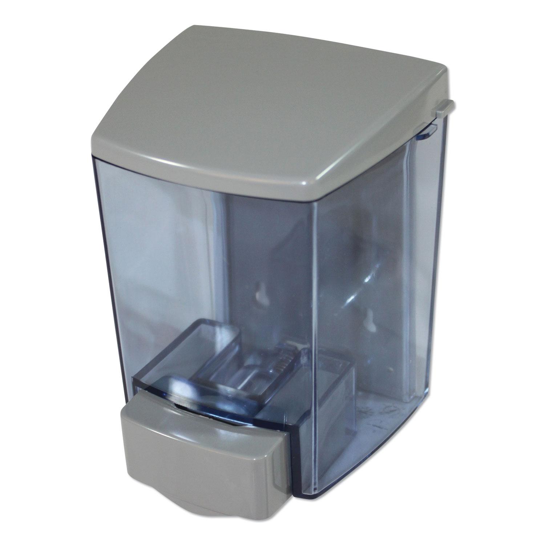 """ClearVu Encore Liquid Soap Dispenser, 30 oz, 4.5"""" x 4"""" x 6.25"""", Gray"""