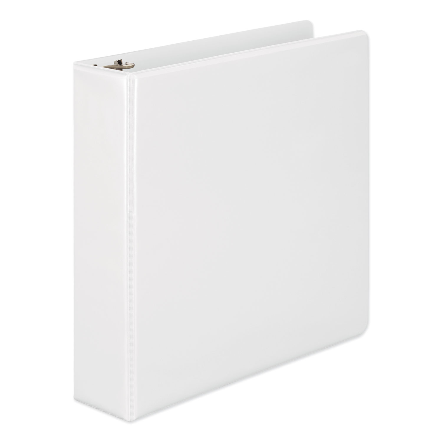 """Heavy-Duty D-Ring View Binder with Extra-Durable Hinge, 3 Rings, 2"""" Capacity, 11 x 8.5, White"""