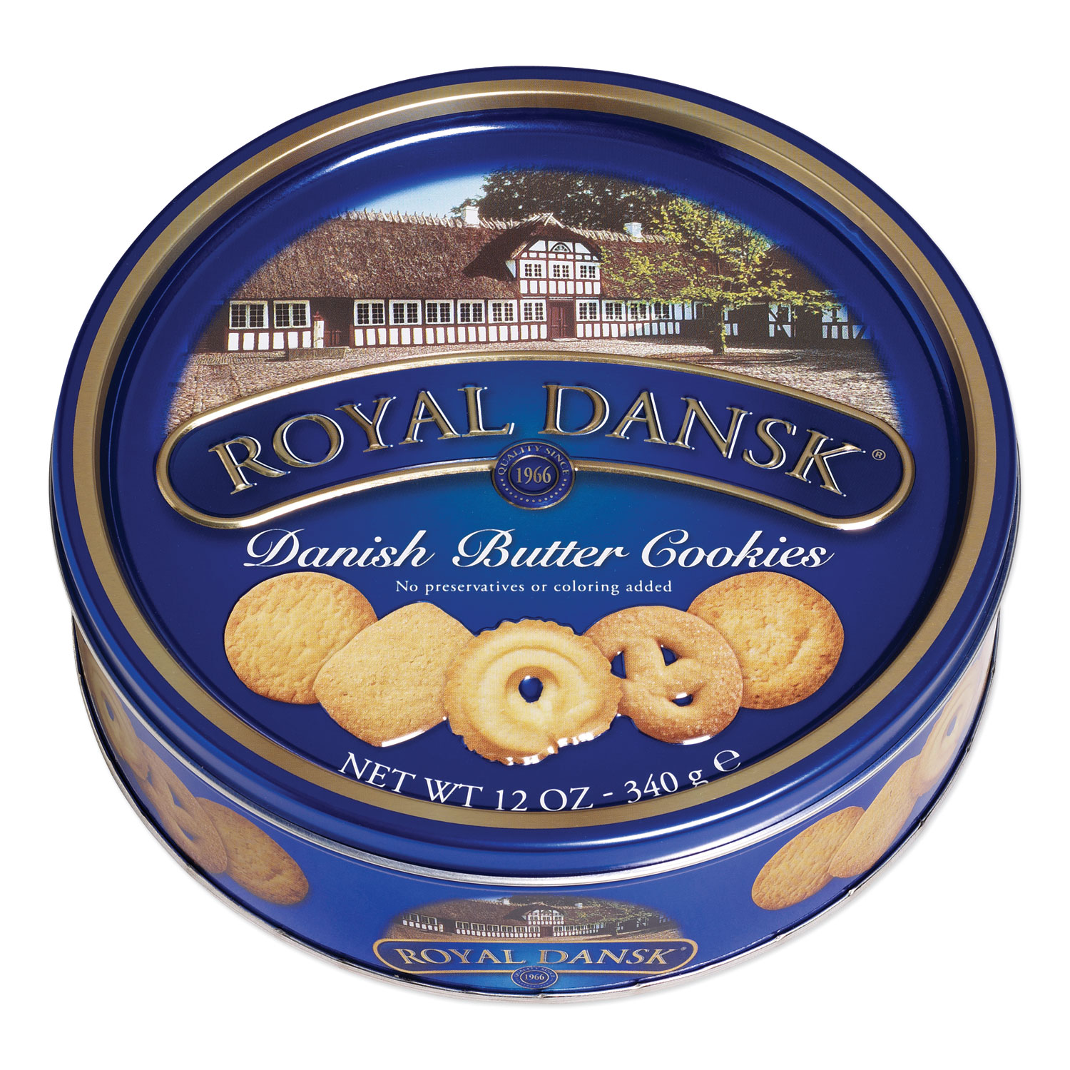 Cookies, Danish Butter, 12 oz Tin