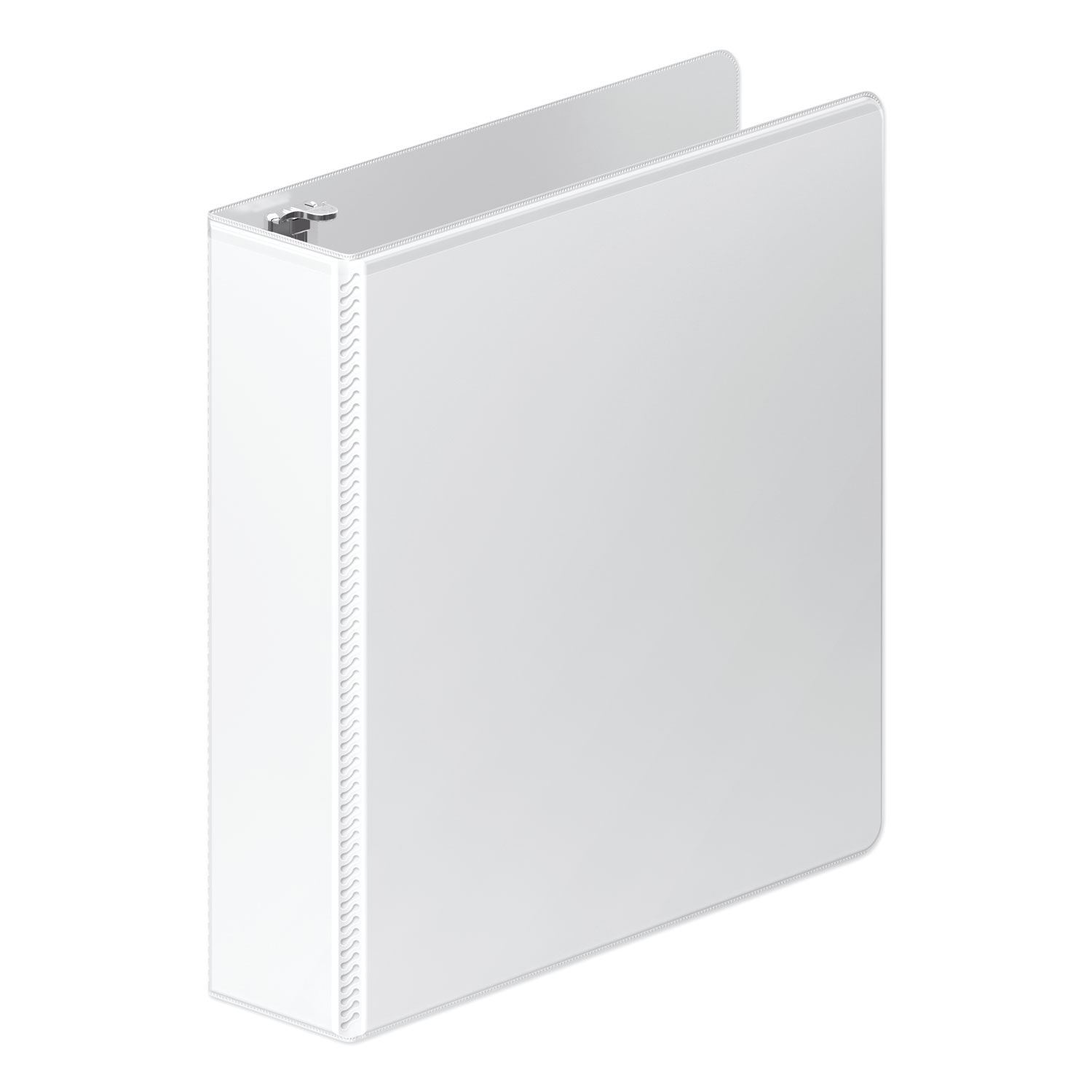 "Heavy-Duty Round Ring View Binder with Extra-Durable Hinge, 3 Rings, 2"" Capacity, 11 x 8.5, White"