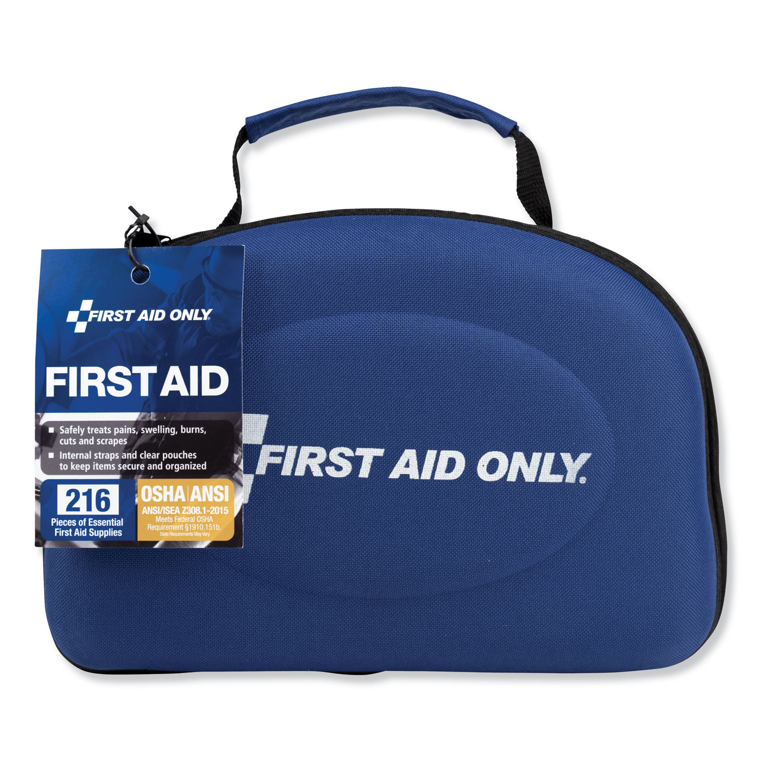 Bulk ANSI 2015 Compliant First Aid Kit, 211 Pieces, Fabric Case