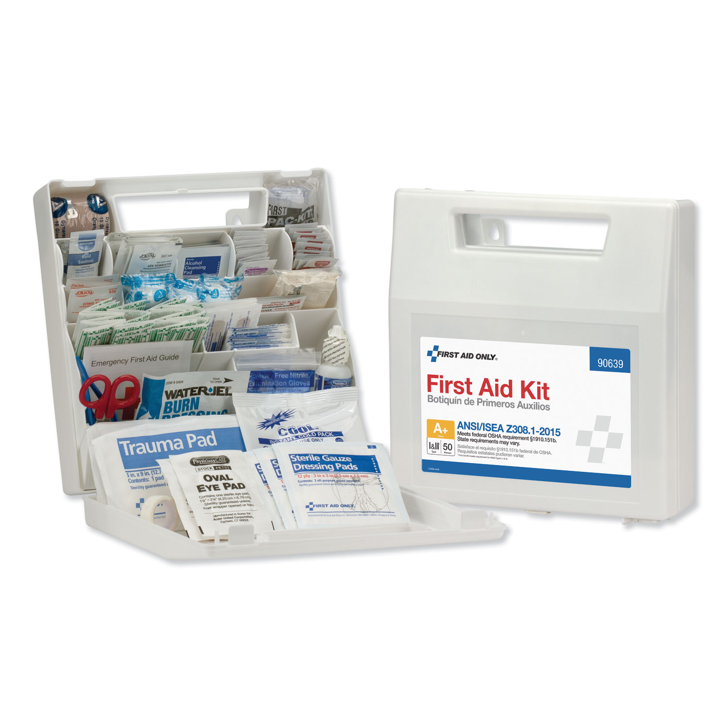ANSI Class A+ First Aid Kit for 50 People, 183 Pieces - Zyn's
