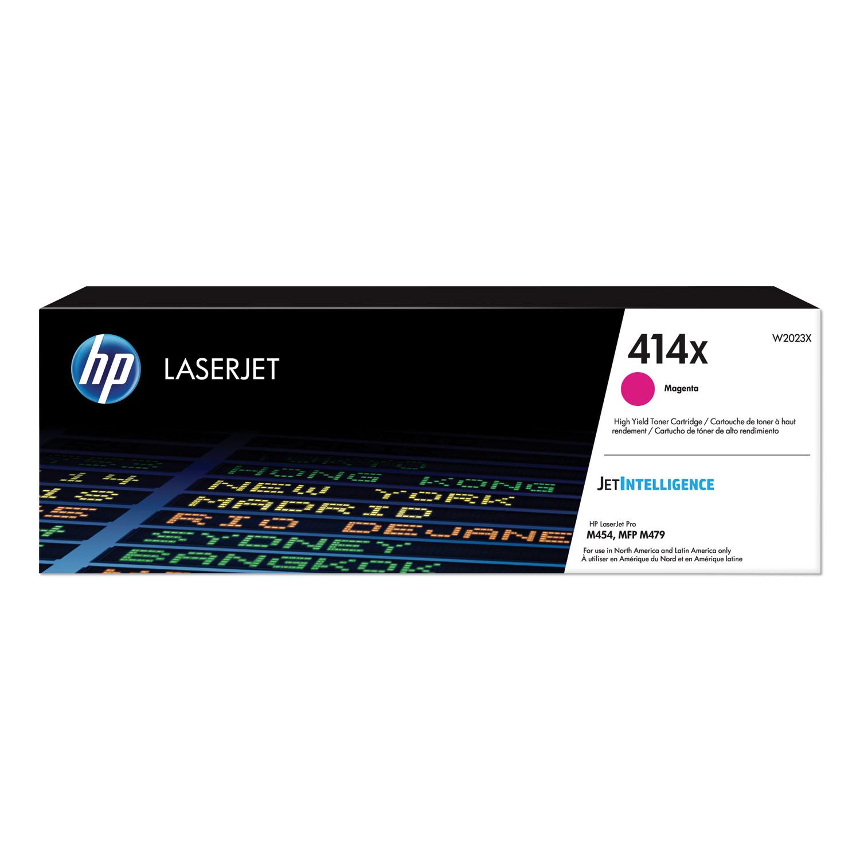 HP 414X, (W2023X) High-Yield Magenta Original LaserJet Toner Cartridge